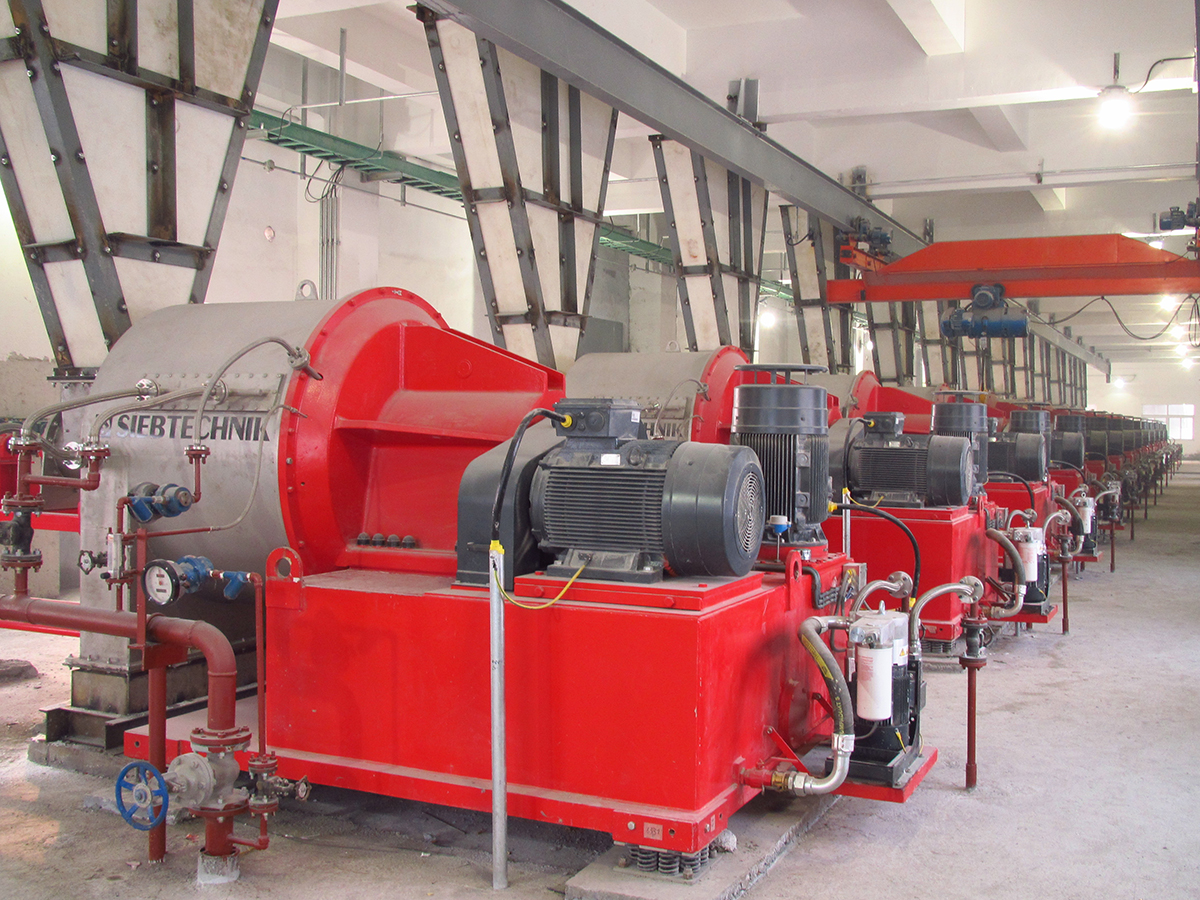 Siebtechnik Tema SHS pusher centrifuge