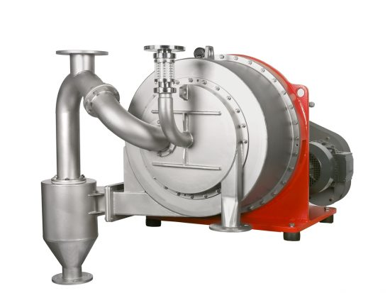 Turbocascade sliding centrifuge Siebtechnik Tema