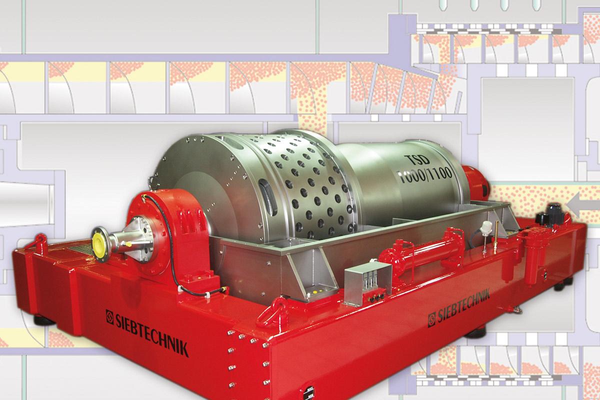 Turboscreen hybrid decanter Siebtechnik Tema