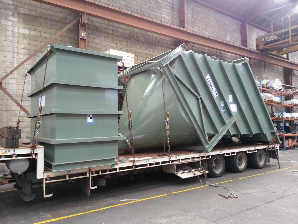 Lamella settler on truck ready for transport - Siebtechnik Tema Australia