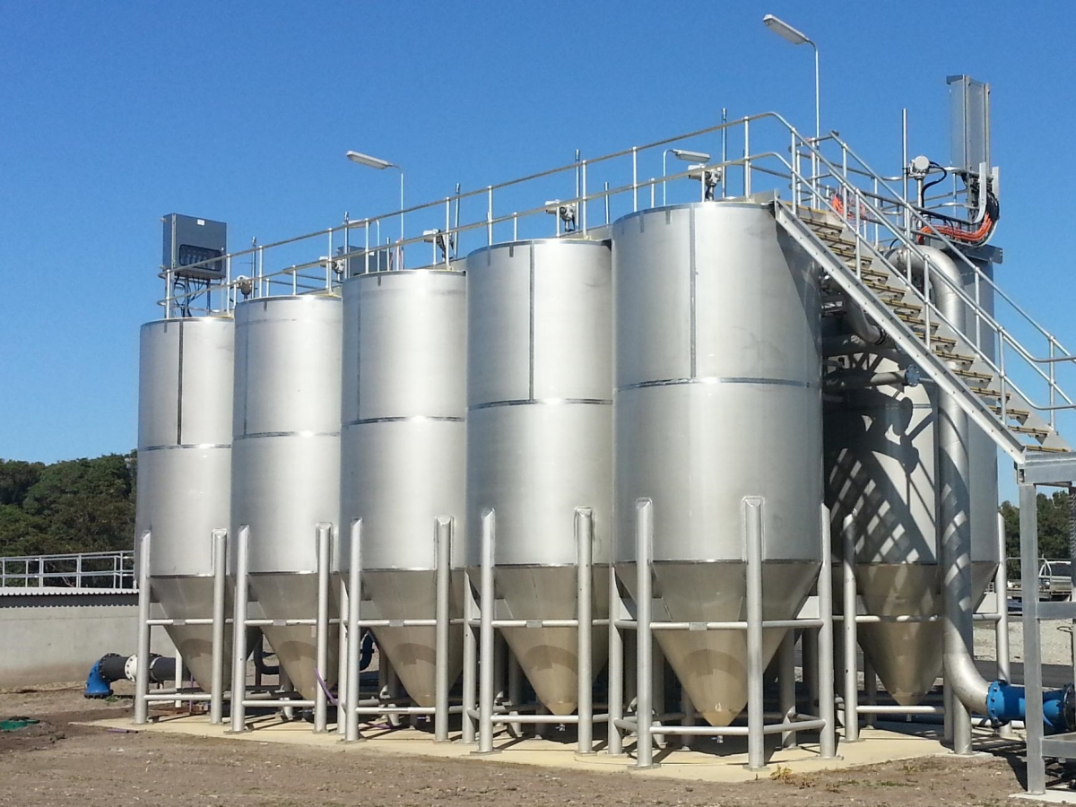 Multiple CWUF at treatment plant no backwash required Siebtechnik Tema Made in Australia