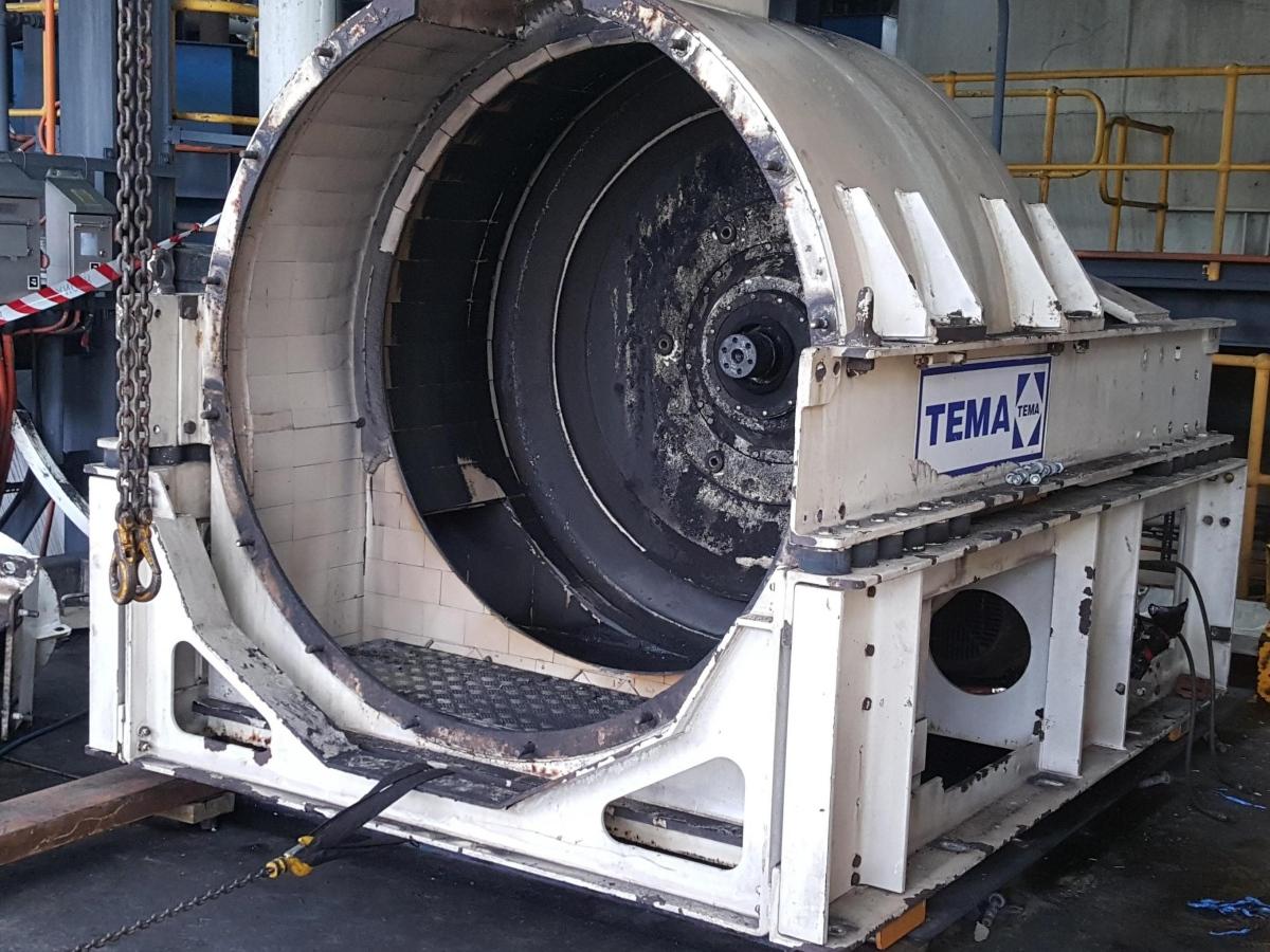 Refurbishment coal centrifuge Siebtechnik Tema Australia